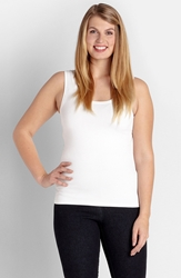 Karen Kane Supersoft Tank Plus Size White