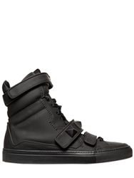 Giacomorelli Matte Leather High Top Sneakers Black