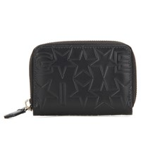 Givenchy Iconic Print Mini Embossed Leather Wallet Black