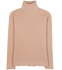 Valentino Wool Blend Turtleneck Sweater Beige