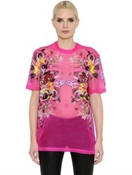 Givenchy Flower Printed Sheer Silk Organza Top