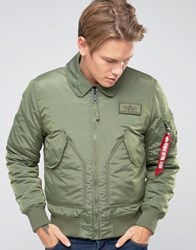 Alpha Industries Cwu Bomber Jacket In Slim Fit Sage Green Gr1 Green 1
