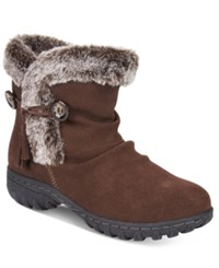 Khombu Women's Isabella Cold Weather Booties Women's Shoes Chocolate