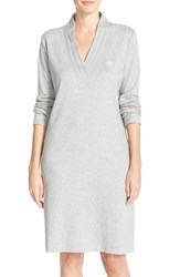 Women's Lauren Ralph Lauren 'Emsworth' Cotton Nightgown Heather Grey