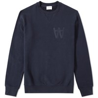 Wood Wood Aa Houston Sweat Blue