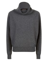 Jaeger Cashmere Slouchy Sweater Grey