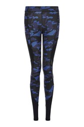 Ivy Park Camo Mesh Panel Legging By Navy Blue