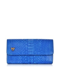Ghibli Python Medium Wallet Blue