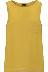 Joseph Washed Silk Tank Top Chartreuse