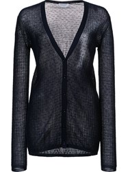 Gabriela Hearst Sheer Style Cardigan Blue