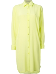 Ermanno Scervino Loose Fit Shirt Dress Green