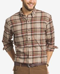 G.H. Bass And Co. Men's Big And Tall Plaid Flannel Long Sleeve Shirt Kelp