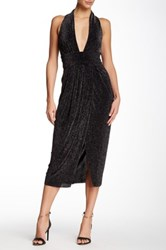 Bec And Bridge Galactica Deep V Neck Dress Black
