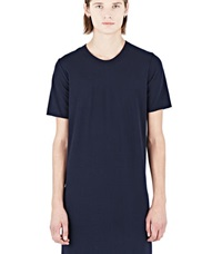 Rick Owens Doubled Short Sleeved Tunic Navy