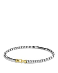 David Yurman Cable Buckle Bracelet With Gold Silver Yellow Gold
