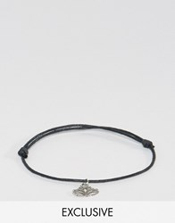 Reclaimed Vintage Silver Charm Anklet Silver