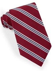 Lord And Taylor Racer Stripe Tie Red