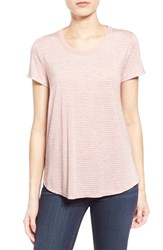 Women's Gibson Short Sleeve Mixed Media Tee Mauve