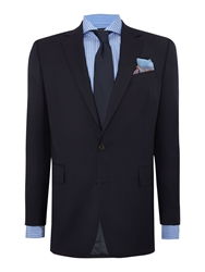 Chester Barrie Plain Weave Notch Collar Tailored Fit Suit Navy
