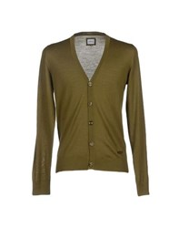 Armani Collezioni Knitwear Cardigans Men Military Green