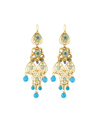 Jose And Maria Barrera Filigree Chandelier Drop Earrings