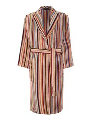 Paul Smith Multistripe Towelling Robe Multi Coloured
