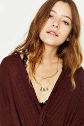 Urban Outfitters Rae Sun Drop Choker Necklace Gold