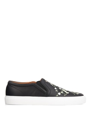 Givenchy Floral Print Leather Skate Shoes