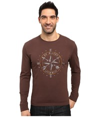 Life Is Good Go Place Compass Crusher Long Sleeve Darkest Brown Men's Long Sleeve Pullover