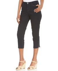 Style And Co. Embellished Tummy Control Capri Jeans Dark Wash
