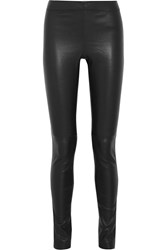 Joseph Stretch Leather Leggings Black