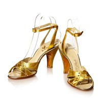 Circa Vintage 1930S Gold Leather Shoes