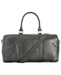Cole Haan Pebbled Leather Duffle Bag Black