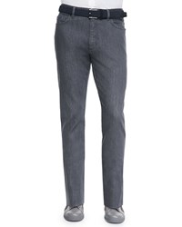 Ermenegildo Zegna Stretch Denim Slim Fit Pants Dark Gray Men's