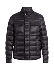 Moncler Forbin Quilted Down Nylon Coat Navy