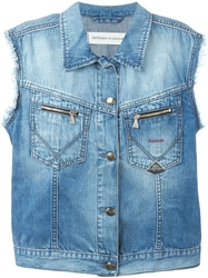 P.A.R.O.S.H. Embroidered Denim Vest