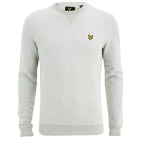 Lyle And Scott Vintage Men's Crew Neck Twill Look Sweatshirt Light Grey Marl