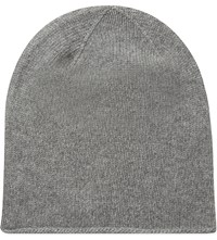 Johnstons Roll Trim Beanie Light Grey
