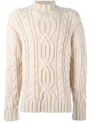 Loewe Cable Knit Sweater White