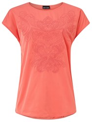 Gerry Weber Embroidered T Shirt Coral
