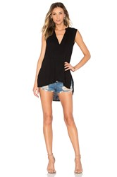 Michael Stars Double Gauze Tank Black