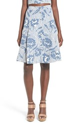 Women's Astr 'Here Comes The Sun' Button Front Skirt