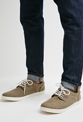Forever 21 Textured Canvas Sneakers Brown