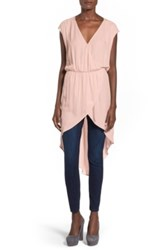 Leith Wrap Front Tunic Juniors Pink