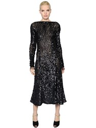 Nina Ricci Sequined Silk Tulle Dress