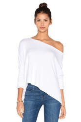 Beautiful People Off The Shoulder Long Sleeve Pullover White