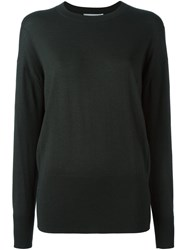 Vince Crew Neck Ultra Fine Sweater Green