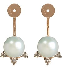 Annoushka 18Ct Rose Gold Pearl And Brown Diamond Earring Backs