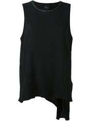 Lost And Found Ria Dunn Pleated Back Top Black