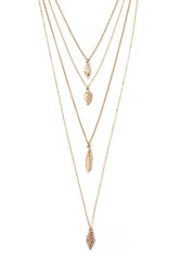 Forever 21 Leaf Pendant Layered Necklace